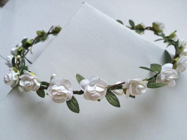 Rose Crown, Toddler Headband , Flower Girl Crown, Flower Girl Tiara ...