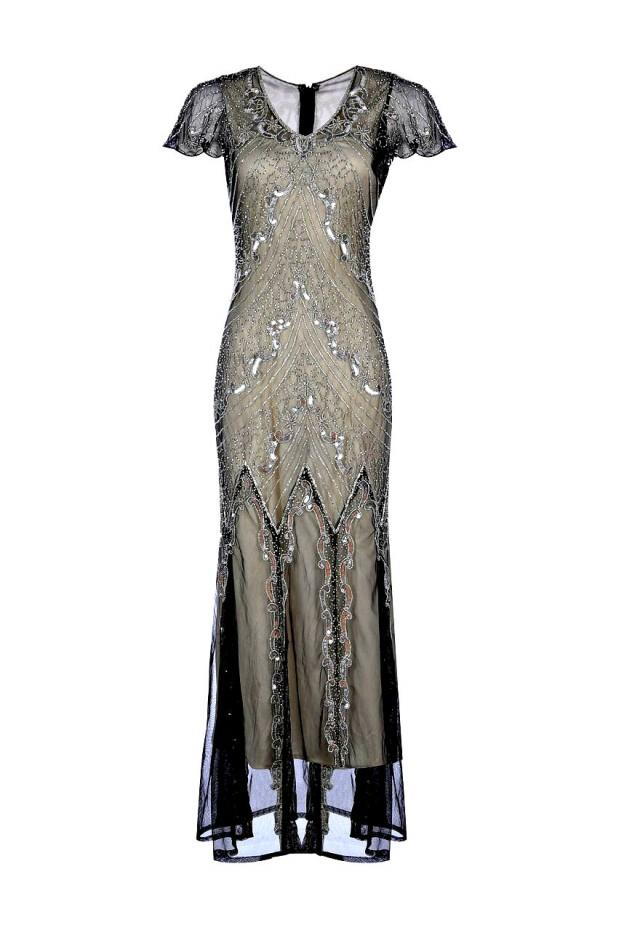 Miranda Embellished Flapper Dress 1920s Great Gatsby Inspired
