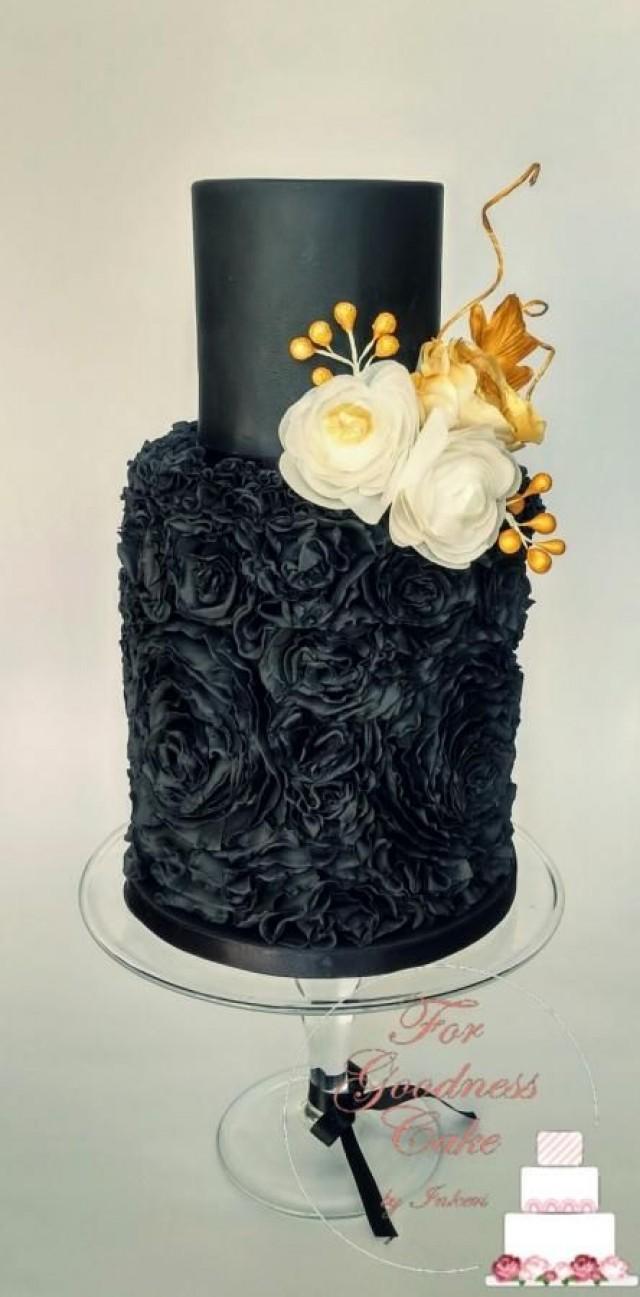 Gâteau - All Black Wedding Cake #2732520 - Weddbook