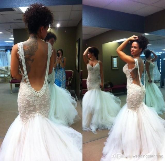 Mermaid Wedding Dresses 2015 Formal Sweetheart Straps Full