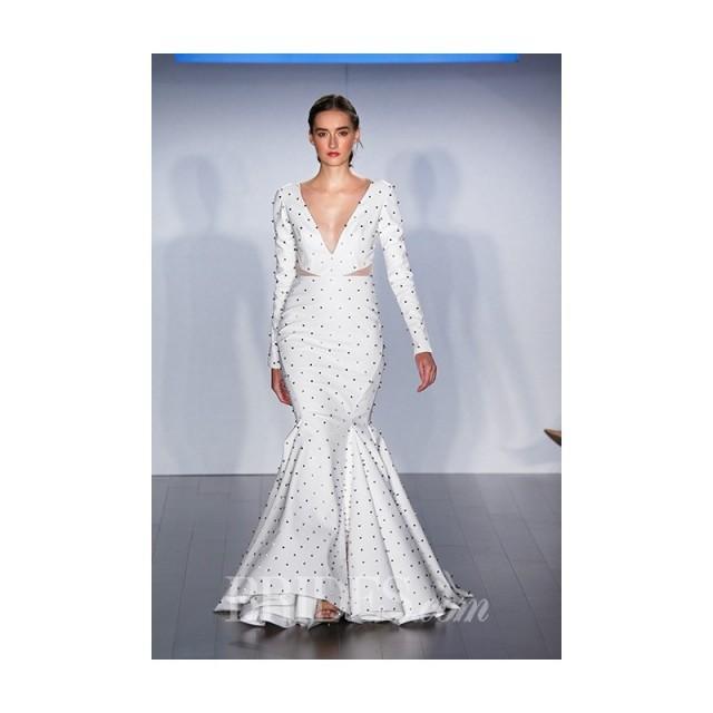 Hayley Paige Fall 2015 Long Sleeve Polka Dot Mermaid Wedding
