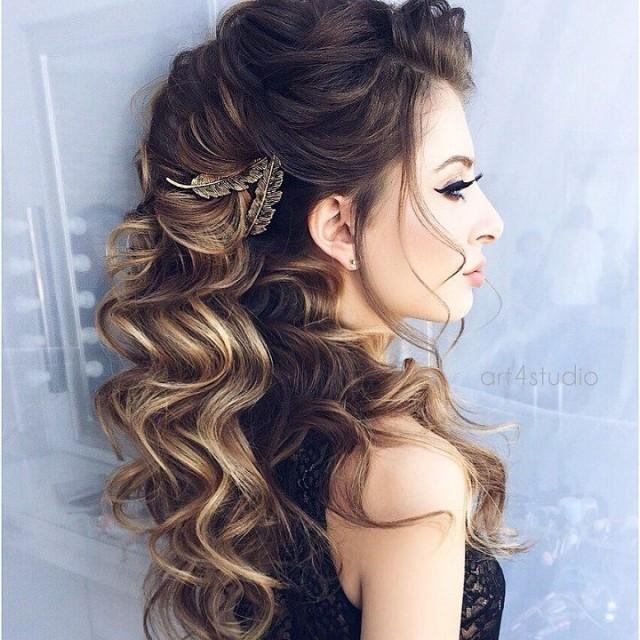 Half Up Wedding Hair Ideas: Half Up Half Down Wedding Hairstyle