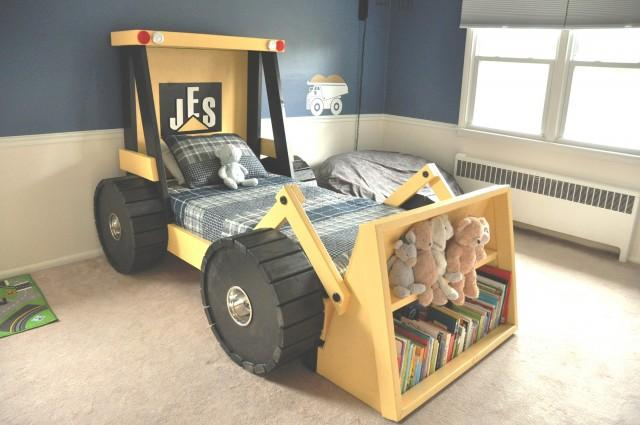 50 Car Themed Bedroom Ideas For Kids Boys Accessories: Construction Truck Bed Plans