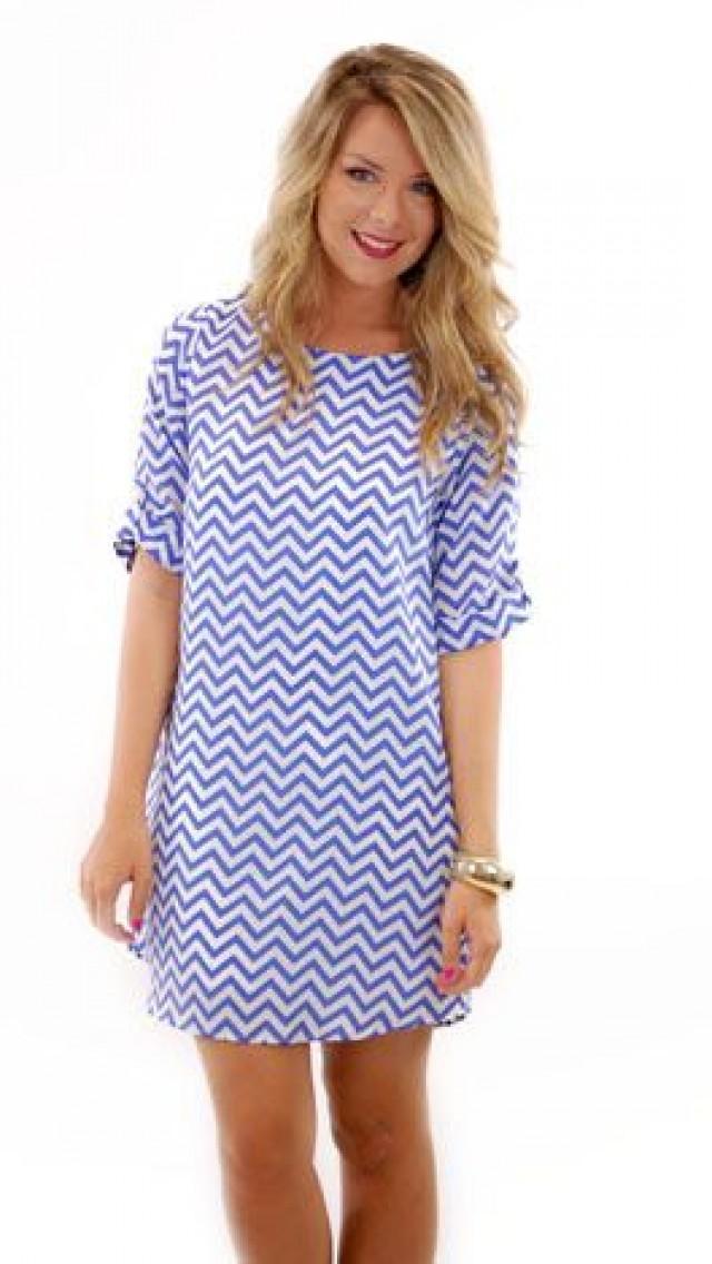 Laser Zag Dress, Blue :: Dresses :: The Blue Door Boutique ... - photo #3