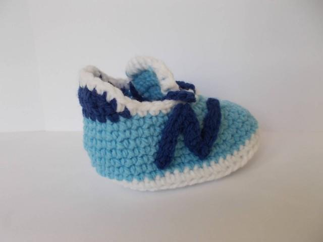 Nike And Converse Baby Crochet Shoes