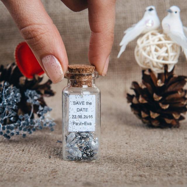 Winter Wedding Menu Ideas: Silver Wedding Favors Rustic Save The Date Wedding Favor