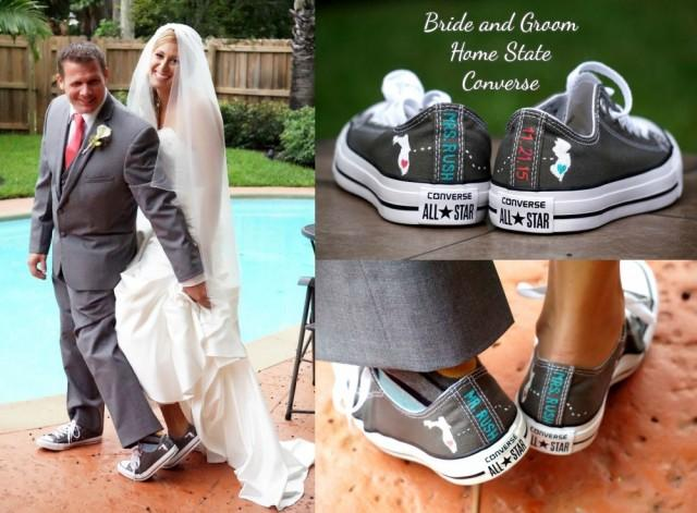 personalized converse for wedding
