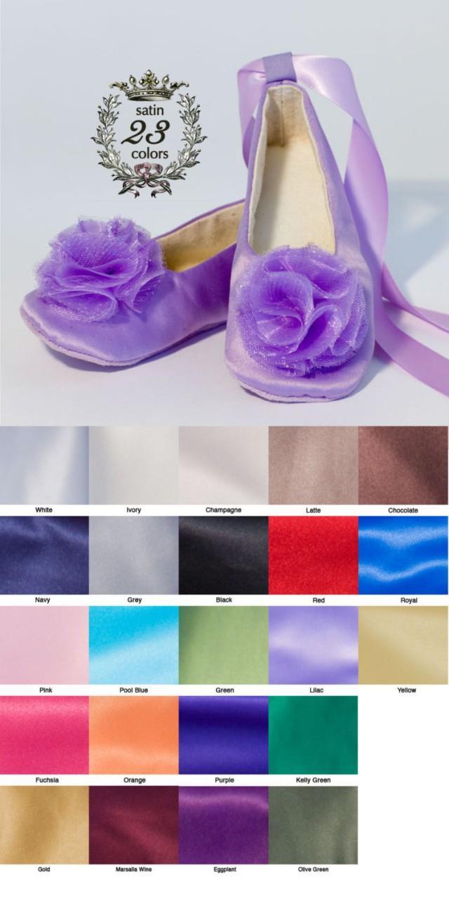 dc54dc3341c Lilac Satin Flower Girl Shoe
