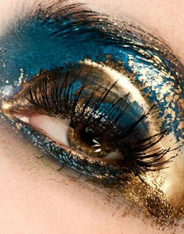Makeup on eyes