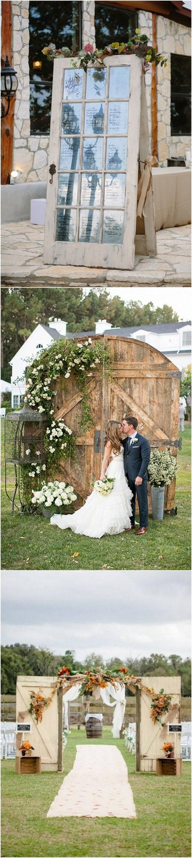 18 Wedding Decoration Ideas With Vintage Old Doors #2792740 ...