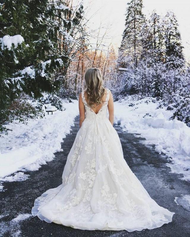 свадебное-платье-невесты +зима
