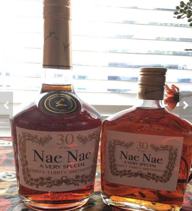 Christmas Liquor.Printed Custom Cognac Label Custom Christmas Liquor Label