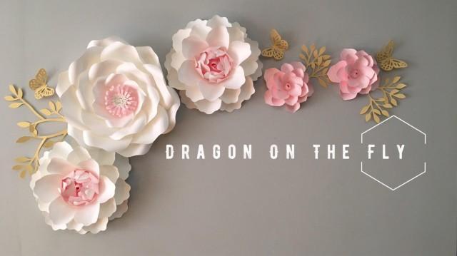 Nursery Paper Flower Wall Decor