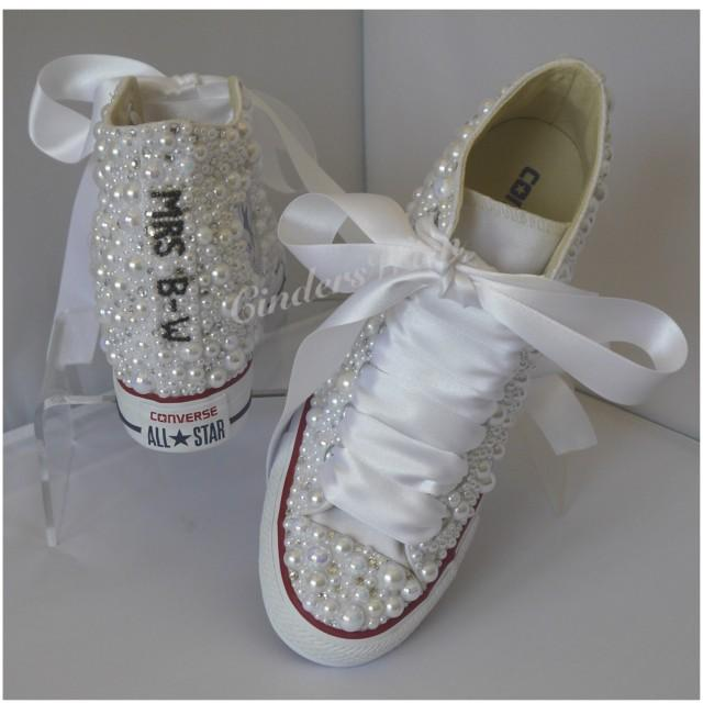 Converse Wedge Luxury Pearl Sparklers   All Over Converse   Bridal Converse    Wedding Converse   Pearl Converse   Bling Converse    2806698 - Weddbook a497a5c172