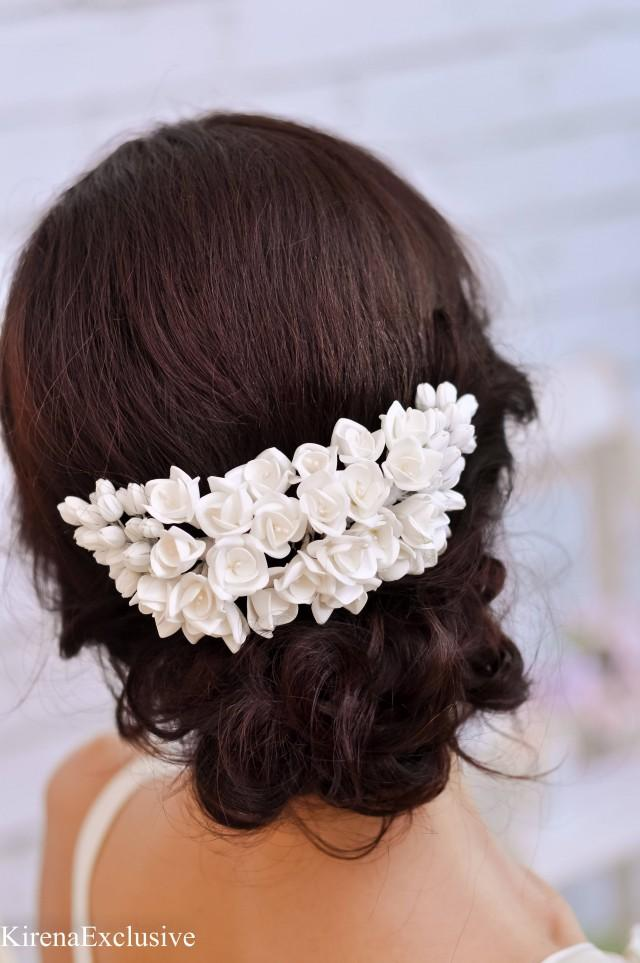 White flower hair comb wedding hair comb floral hair comb flower white flower hair comb wedding hair comb floral hair comb flower hair clip wedding hairpiece flower headpiece bridal hair piece flower comb 2809907 mightylinksfo