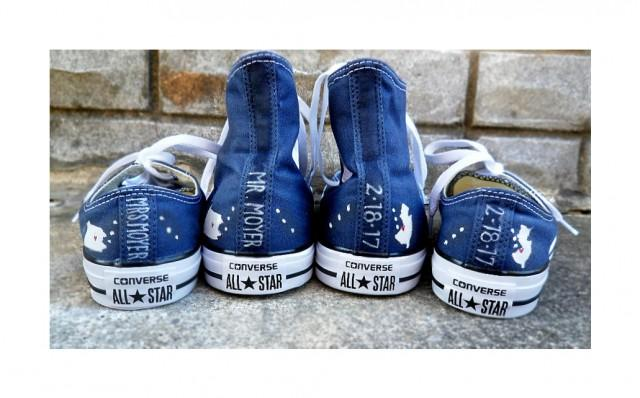 58d9193dae2b4d Something Blue Custom Bride Groom Home State Converse Wedding Converse Low  High Tops Mr   Mrs Custom Converse Wedding Shoes Painted Converse  2812147  - ...