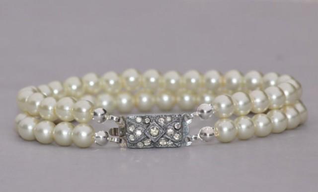 99f9ff186a 1920s AUTHENTIC Art Deco Pearl Bracelet,Multi Strand Pearl Bracelet ...