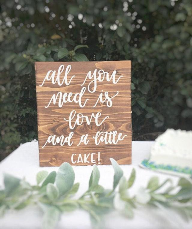Wooden Rustic Wedding Decorations: Wedding Wood Sign Wooden Sign Wedding Cake Table Sign