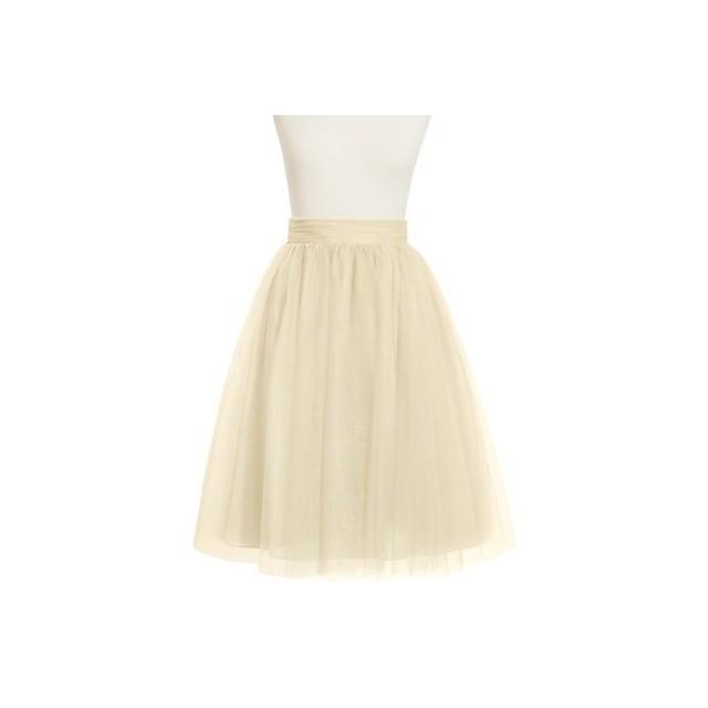 52a839e219d Champagne Azazie Sylvie - Tulle Knee Length Dress - Simple Bridesmaid  Dresses   Easy Wedding Dresses  2823881 - Weddbook