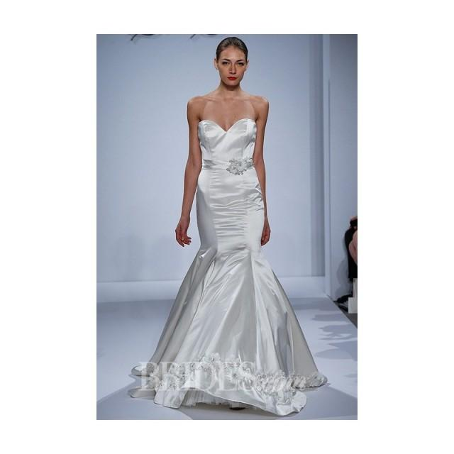 Dennis Basso For Kleinfeld Spring 2014 Strapless Silk Satin