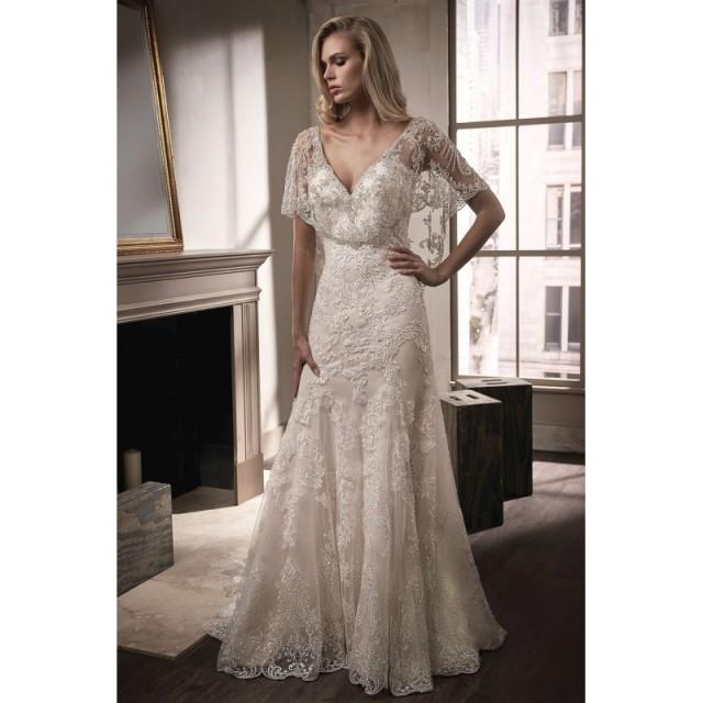 Style T192008 By Jasmine Couture Gold Ivory White Lace Cover Up
