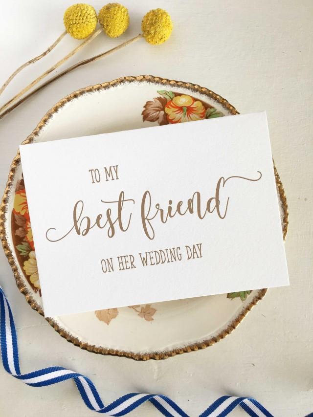 To My Best Friend On Her Wedding Day, Best Friend Card