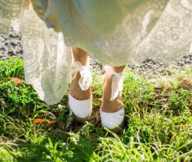 AUDREY PLATFORM Wedge Lace Up Espadrille Boho Style