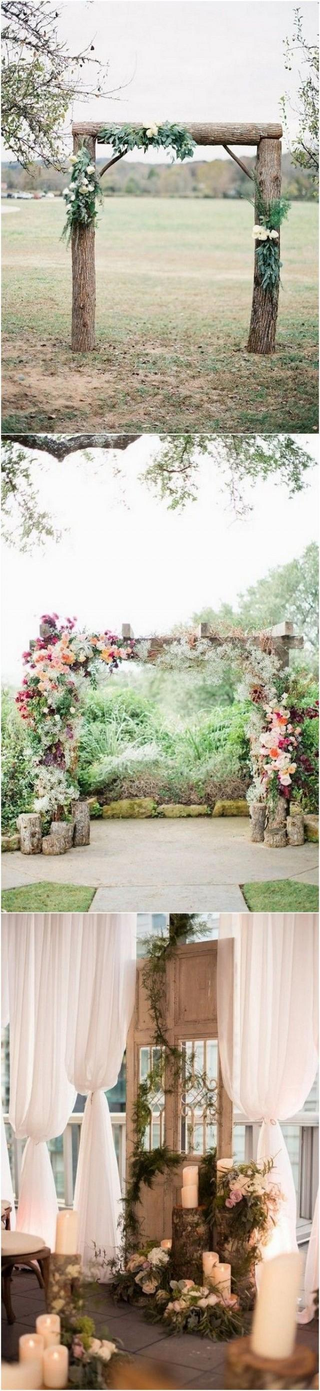 28 Country Rustic Wedding Decoration Ideas With Tree Stumps