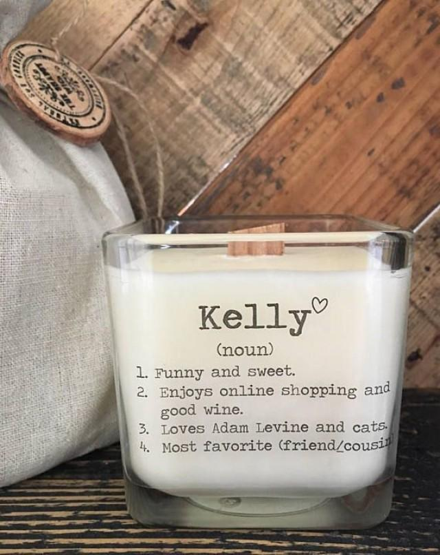 Personalized Friend Gift Valentines For Her Gifts Friends Birthday Soy Candle An Elegant