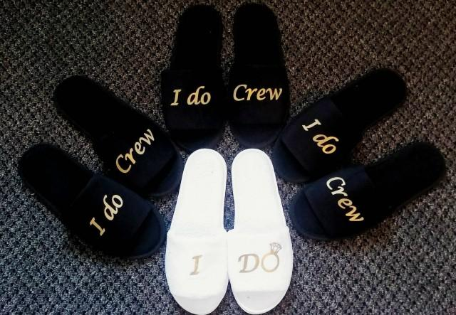 67688ac4b40e3 Bridesmaids Gifts- Bridesmaid Slippers - Bride Slippers - Slippers ...