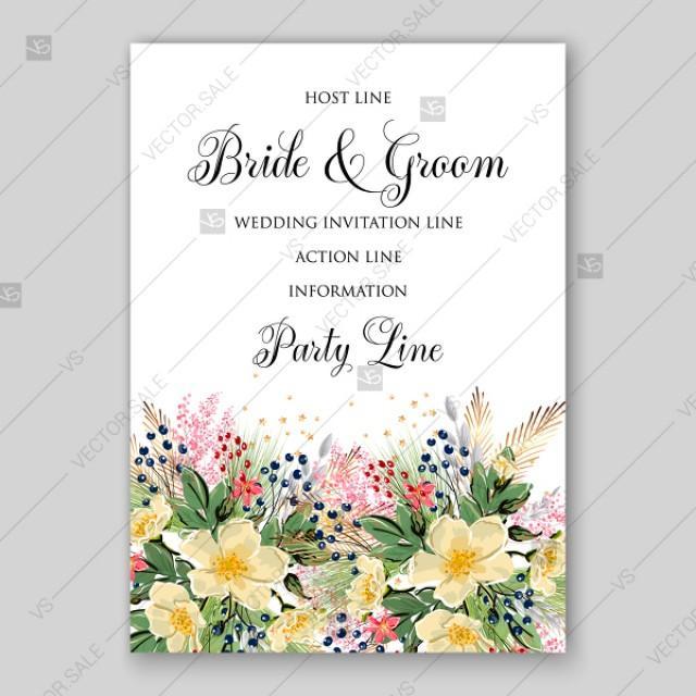 Anemone Sakura Spring Wedding Invitation Floral Template 2840952
