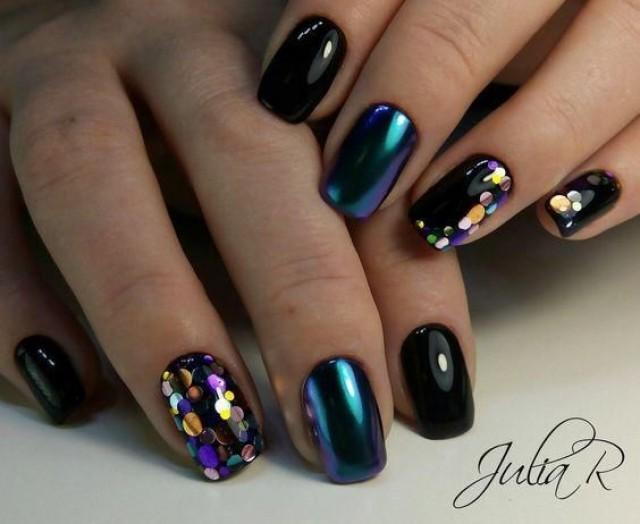 50Pcs Nail Glitter Transfer Sticker Nails Glitter Tips Nail