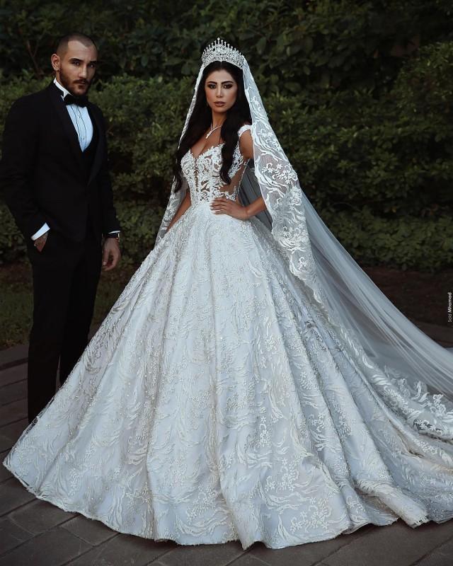 check out 5b2f3 6c03c Modern Weiße Hochzeitskleider A Linie Spitze Brautkleider ...