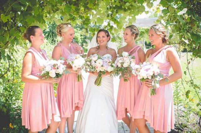 0e44d7f56d6 TDY Blush Short Asymmetrical Hem Regular Infinity Dress Multiway Bridesmaid  Dress Convertible Dress Wedding Dress Maid Of Honour Dress  2891940 -  Weddbook