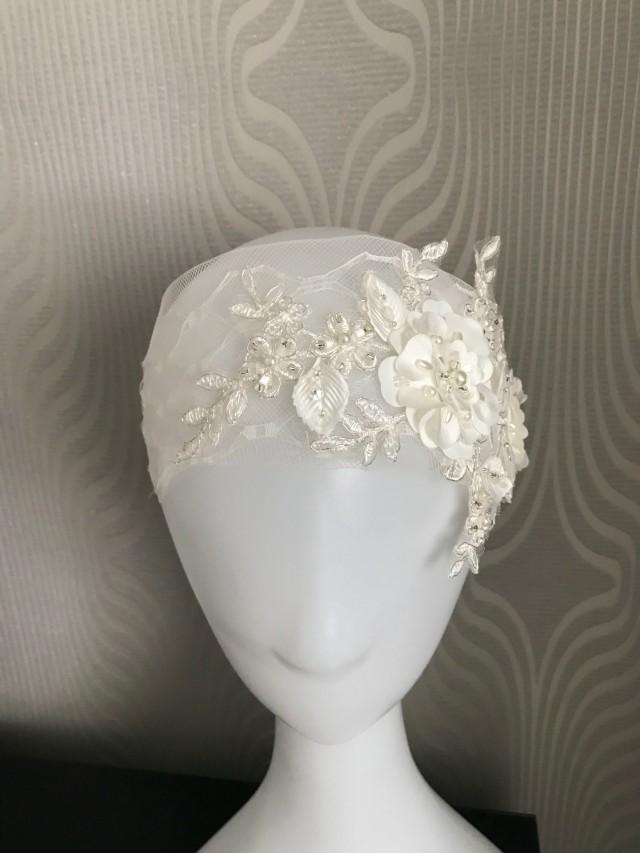 Birdcage Veil Vintage Style Headband 1950s Wedding