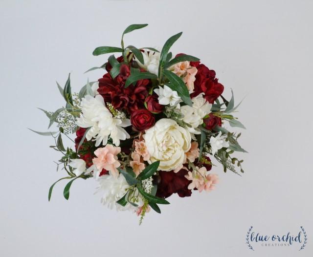 Burgundy Bouquet Wedding Bouquet Wedding Flowers Boho Bouquet