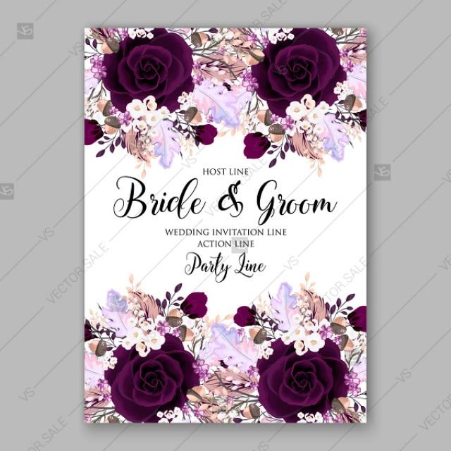 Marsala Dark Red Peony Wedding Invitation Vector Floral Background Thank You Card 2905630 Weddbook