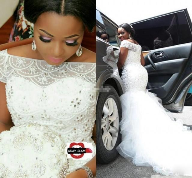 2019 Hot African Nigeria Mermaid Wedding Dresses Off Shoulder