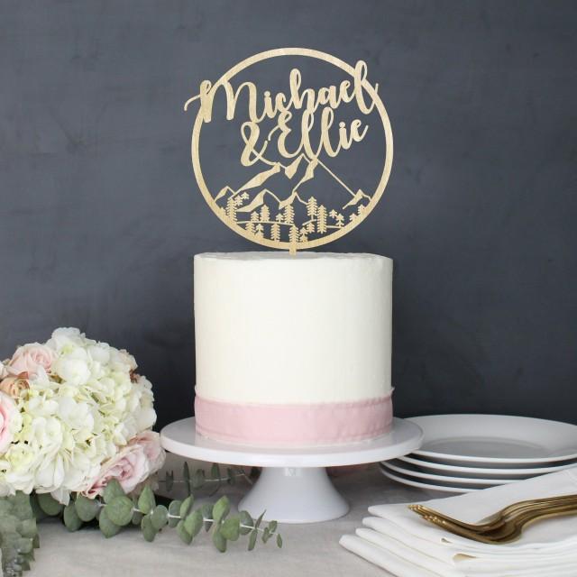 Personalized Modern Rustic Mountain Wilderness Wedding Cake Topper 2923473 Weddbook