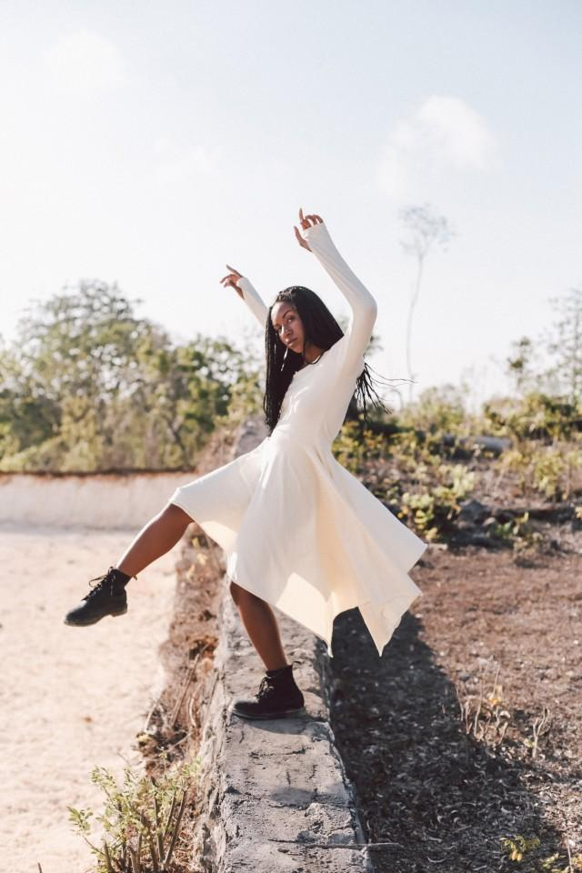Organic Bamboo Simple Wedding Dress Boho Bohemian Tribal Gypsy Long Sleeve Goddess Bridesmaid Dress Off White Long Midi Dress For Women 2952610 Weddbook