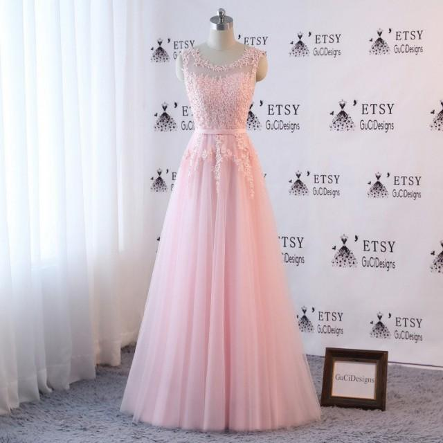 Pearl Pink Bridesmaid Lace Dress Wedding Dress Floral Applique Prom Dress Long Roundneck Off Shoulder Party Dress Girl Formal Occasion Gown 2957611 Weddbook,Autumn Wedding Fall Wedding Guest Dresses