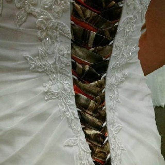 Camo Ribbon Ties Camo Corset Ties With Accent Colors To Add To Your Traditional Wedding Dress 2962790 Weddbook