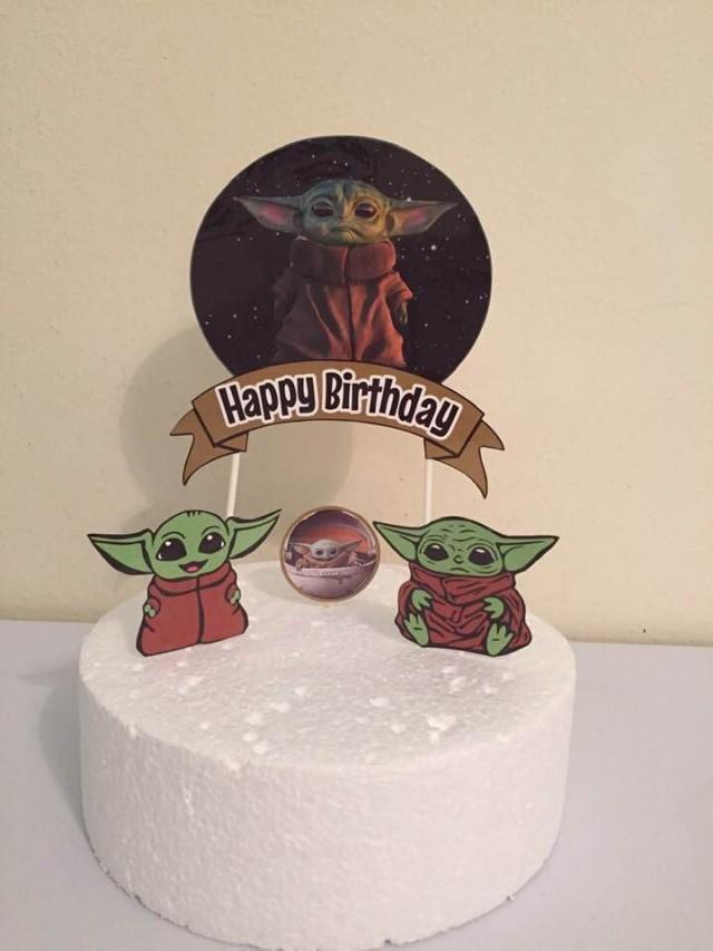 Baby Yoda Cake Topper, Baby Alien Cake Topper #2963464 ...