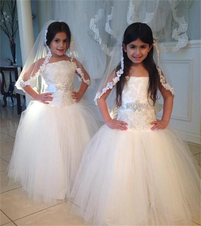 Girl Rose Lace Edge 1 Tier Custom Handmade Plain First Communion Wedding Bridal Flower Veil 2970966 Weddbook
