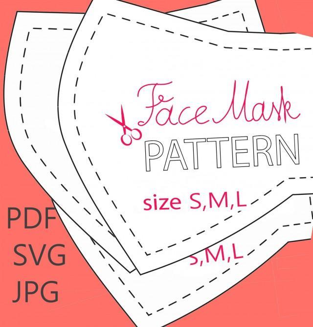 3 D Cloth Face Mask Pattern Digital Wedding Face Mask Pdf Face Mask Svg 2973136 Weddbook