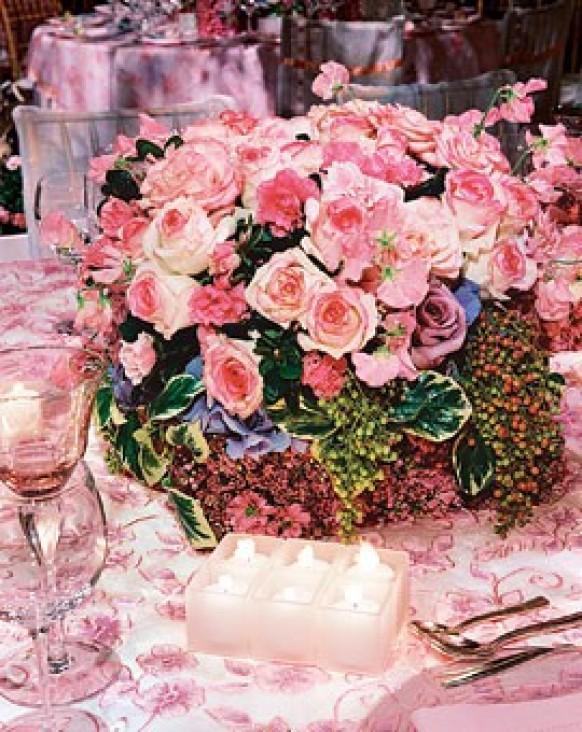 Centerpieces pink wedding centerpieces 797436 weddbook junglespirit Image collections