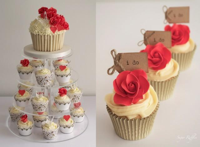 wedding cakes and cupcakes ideas wedding cupcakes valentines wedding cupcake tower 23790