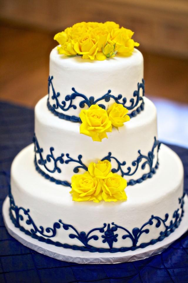 wedding cakes navy blue and yellow yellow wedding blue and yellow wedding cake 2040712 25069