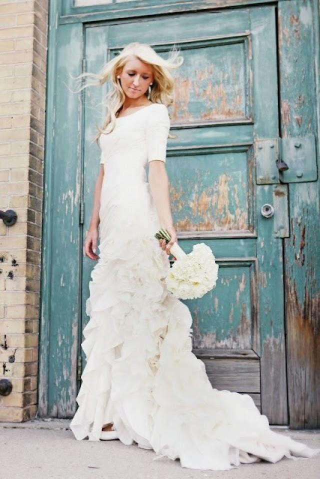 Surprising Modest Wedding Dresses With 3 4 Sleeves 94 For Cheap Dress 2046833 Weddbook