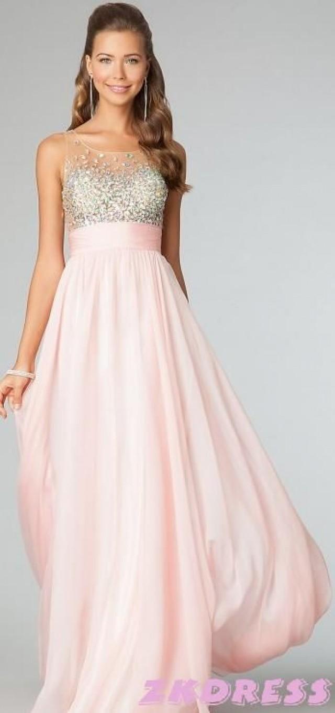 rosa blush color kleid